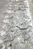 Cement fracture surface destruction Royalty Free Stock Photo