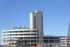 Cement frame new construction high rise building Royalty Free Stock Photos