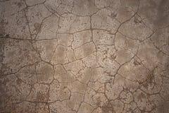 Cement gebarsten vloer als achtergrond Stock Afbeelding