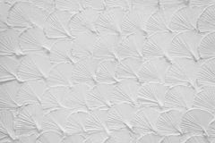 Cement glossed like shell on white wall for backgr Stock Photography