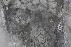 Cement grey wall with cracks. Royalty Free Stock Image