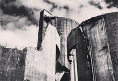 Cement i svartvitt Royaltyfria Foton
