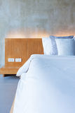Cement interior style in bedroom Stock Image