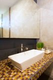 Cement interior style in restroom Stock Photo