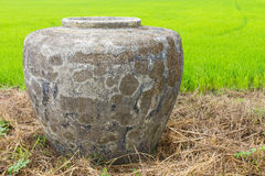 Cement jar Royalty Free Stock Image