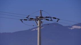 Cement konkreta Pole för elektriska branscher Arkivfoto