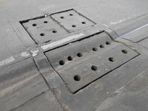 Cement manhole cover Royalty Free Stock Photos