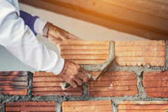Cement masons and plasterer Stock Photos