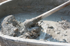 Cement mix concrete is compacted sand. Waiting to be mixed with. Cement mix concrete is compacted sand. Waiting to be mixed cement Royalty Free Stock Photography