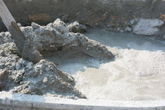 Cement mix concrete is compacted sand. Waiting to be mixed with. Cement Stock Photos