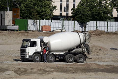 Cement mixer. A cement mixer truck Royalty Free Stock Image