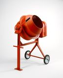 Cement Mixer. Portable cement mixed on white background Stock Images