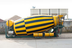 Cement mixer. Disassembled cement mixer of a cement truck royalty free stock image
