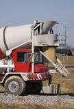 Cement Mixer. Truck stock image