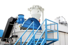Cement mixer. Big cement mixer plant on construction site royalty free stock photography