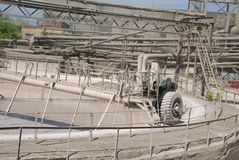 Cement mixer at a cement plant. Russia Stock Image