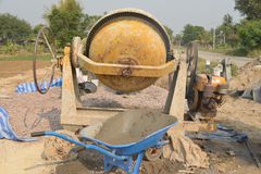 Cement mixer. Stock Photo