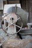 Cement mixer. At a construction site Royalty Free Stock Photography