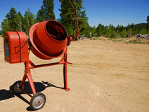 Cement Mixer at Construction Site. Royalty Free Stock Photos