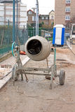 Cement mixer at a construction site Stock Images
