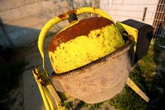 Cement mixer at a construction site Stock Photography