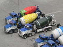 Cement Mixer Lorry Royalty Free Stock Photos
