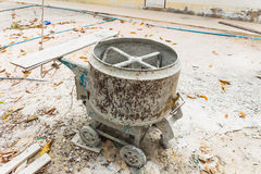 Cement mixer machine. Industrial cement mixer machine at construction site stock images