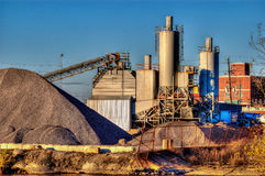 Cement Mixer Plant Stock Photo