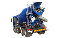Cement Mixer Truck. Isolated on white royalty free stock photos