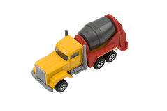 Cement mixer truck. Toy used in construction isolated on white background.Also,check out stock images