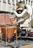 Cement mixer truck Stock Photography