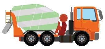 Cement mixer truck Stock Image