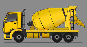 Cement mixer truck Stock Photo