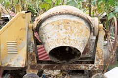 Cement mixer truck. At the temple royalty free stock images