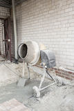 The cement mixer. Working on the site Royalty Free Stock Photos