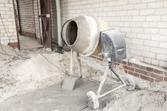 The cement mixer. Working on the site Stock Images