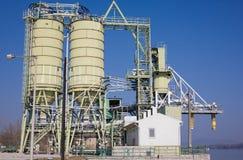 Cement mixing plant Stock Photo