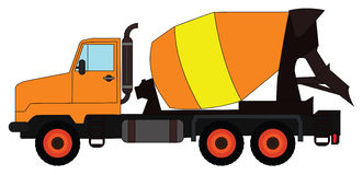 Cement mixing truck Royalty Free Stock Image