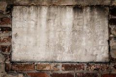 Cement- och tegelstenbakgrund Royaltyfri Fotografi