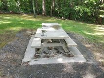 Cement picnic table Stock Photography