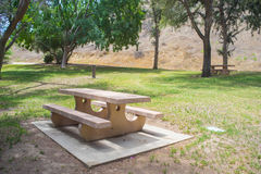 Cement Picnic Table Stock Image