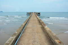 Cement pier in Chumphon Stock Image