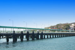 Cement pier in Si Chang Island Royalty Free Stock Photo