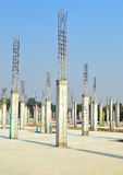 Cement pillar in construct site. And blue sky Stock Image