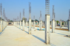 Cement pillar in construct site Stock Image