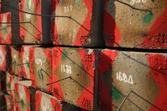 Cement pillars.  Stock Images