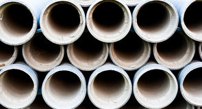 Cement pipe Royalty Free Stock Photography