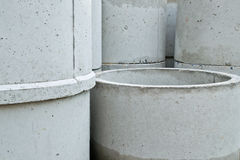 Cement pipe Stock Photography