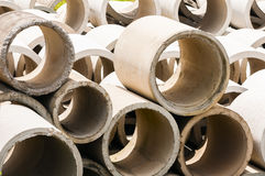 Cement pipe Royalty Free Stock Photo