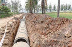 Cement pipeline Stock Photos